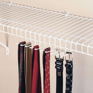 Shop closetmaid 71008 versatile tie belt rack white