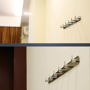 Products webi polished 6 peg sus 304 coat robe hook hat garment rack kitchen bath towel holder closet clothes hanger wall mounted bedroom bathroom entryway accessories home office storage organization 304yz6