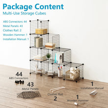Load image into Gallery viewer, Budget friendly tespo wire cube storage shelves book shelf metal bookcase shelving closet organization system diy modular grid cabinet 12 cubes