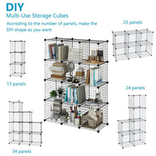 Load image into Gallery viewer, Amazon best tespo wire cube storage shelves book shelf metal bookcase shelving closet organization system diy modular grid cabinet 12 cubes
