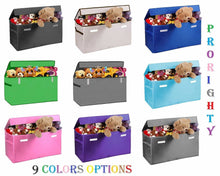 Load image into Gallery viewer, Results prorighty collapsible toy chest for kids xx large storage basket w flip top lid toys organizer bin for bedrooms closets child nursery store stuffed animals games clothes purple