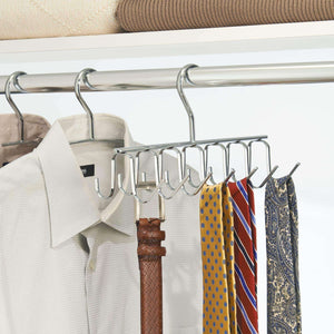 Online shopping interdesign axis closet storage organizer rack for ties and belts chrome