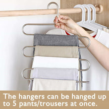 Load image into Gallery viewer, On amazon granny says 4 pack s type magic pants hanger closet clothing organizer