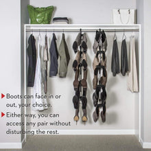 Load image into Gallery viewer, Discover boot butler boot storage rack as seen on rachael ray clean up your closet floor with hanging boot storage easy to assemble built to last 5 pair hanger organizer shaper tree