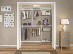 The best closetmaid 22875 shelftrack 5ft to 8ft adjustable closet organizer kit white