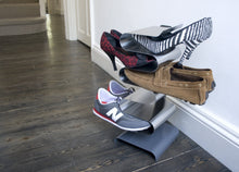 Load image into Gallery viewer, Results j me nest freestanding shoe rack shoe organizer keeps shoes boots sneakers and sandals off the floor a great shoe storage solution for your entryway living room bedroom or closet