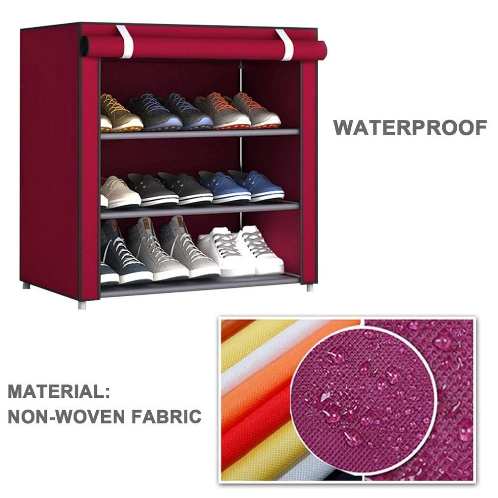 Dustproof Large Size Non Woven Fabric Shoes Rack Shoes Organizer Home Bedroom Dormitory Shoe Racks Shelf Cabinet Dropshipping
