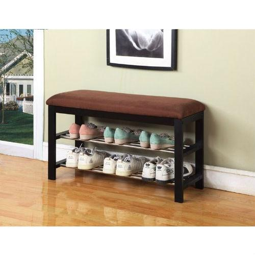 Hallway Entry Bedroom Storage Bench Shoe Rack Organizer