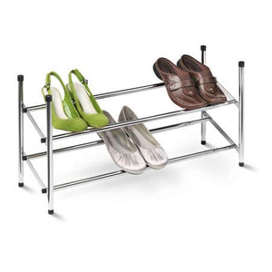 2-Tier Expandable Stackable Shoe Rack, Chrome