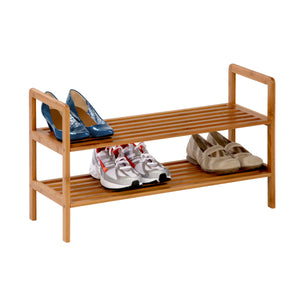 2-Shelf Bamboo Shoe Rack