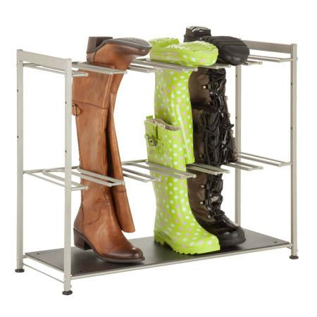 6-Pair Boot Rack, Silver