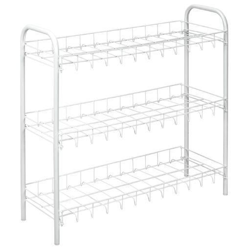 High Quality 3 Tier Shoe Rack White Storage Rack 56cm 3665
