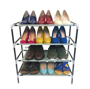 AcornFort S1 2/4/6/8/10 Tiers Adjustable Shoe Storage Shoe Rack Organiser Shelf Hold Stand for 6/12/18/24/30 Pairs, Space Saving, Easy Assemble