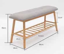 Load image into Gallery viewer, Solid Wood Minimalistic Shoe Rack Bench