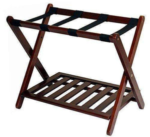 Casual Home Luggage Rack With Shelf