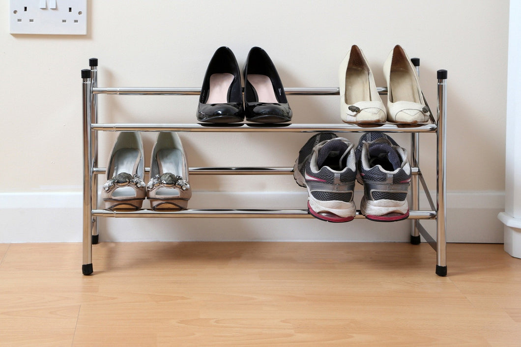 Premier Chrome 2 Tier Shoe Rack -1900227