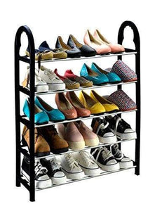 KEPLIN 5 Tier 15 Pairs Shoe Stand Storage Organiser Rack Lightweight Compact