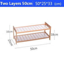 Load image into Gallery viewer, Bamboo Assembled Multilayer Shoe Racks