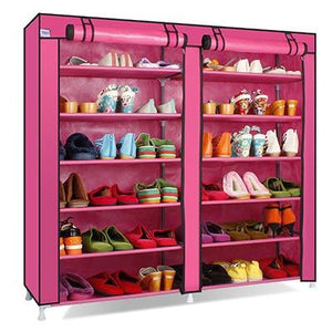 Capacity Shoes Storage Cabinet Double Rows