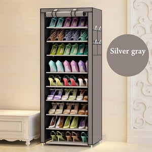 10 Tier Simple shoe rack dustproof multilayer receive shoe rack cloth student dormitory Shoe cabinet wholesale For Living Room