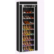 Load image into Gallery viewer, 10 Layer Grid Shoe Rack Shelf Storage