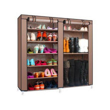 Load image into Gallery viewer, 6-Layer Double Row Shoe Rack Home Storage
