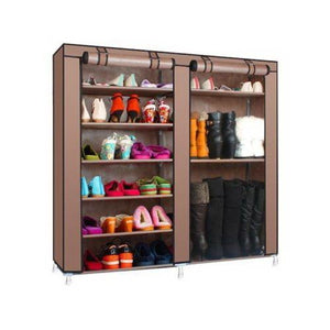 6-Layer Double Row Shoe Rack Home Storage