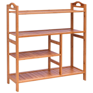 4 Tiers Multifunction Bamboo Storage Shoe Rack