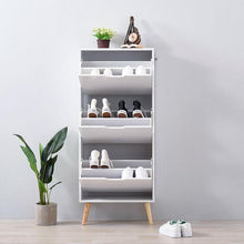 Load image into Gallery viewer, Panana 2/3 Drawers Shoe Hallway Storage Cabinet Footwear Rack Cupboard Stand Livingroom White