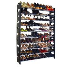 Load image into Gallery viewer, 10-Tier Shoe Rack For 50 Pair Wall Bench Shelf Closet Organizer Storage Box Stand