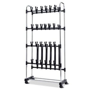 36 Pairs Clip On Shoe&Boot Rack Adjustable Storage Shelf
