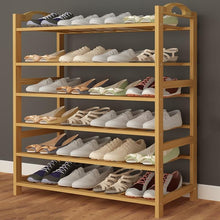 Load image into Gallery viewer, Bamboo Wood Shoe Storage & Organizers