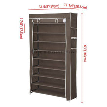 Load image into Gallery viewer, Yescom 10 Tiers 45 Pairs Shoe Rack Shelf Closet & Cover Color Options
