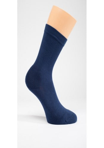 Diabetic Socks with Padded Sole - Navy