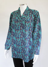 Tanya Petal Back Long Sleeve Blouse - Emerald Green VAT relief