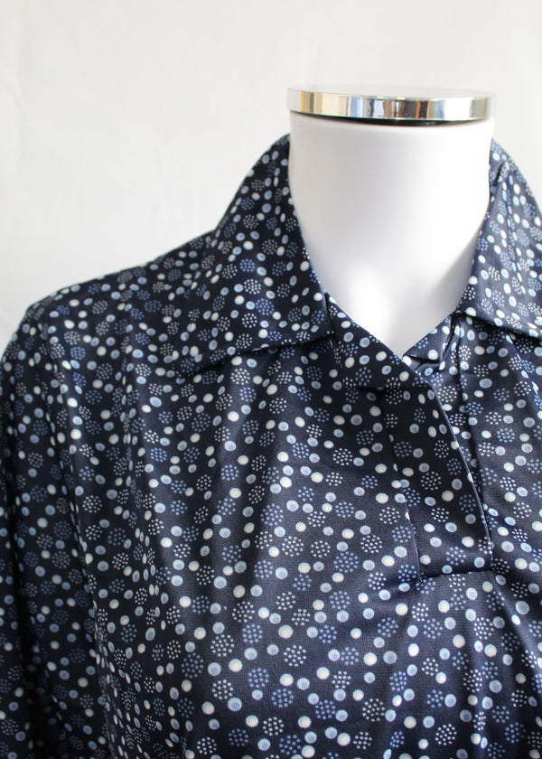 Kimberley Petal Back Polo - Navy Dot