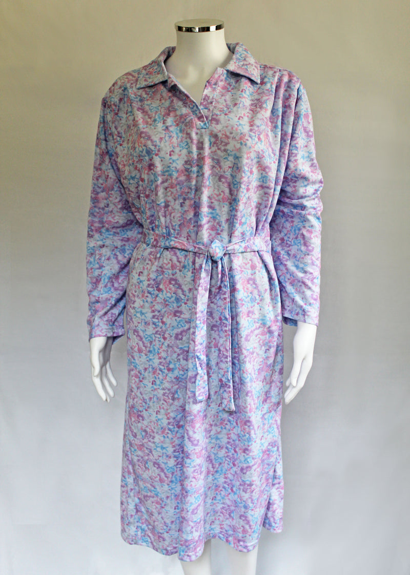 Rebecca Petal Back Long Sleeve Dress - Mauve Floral VAT Relief