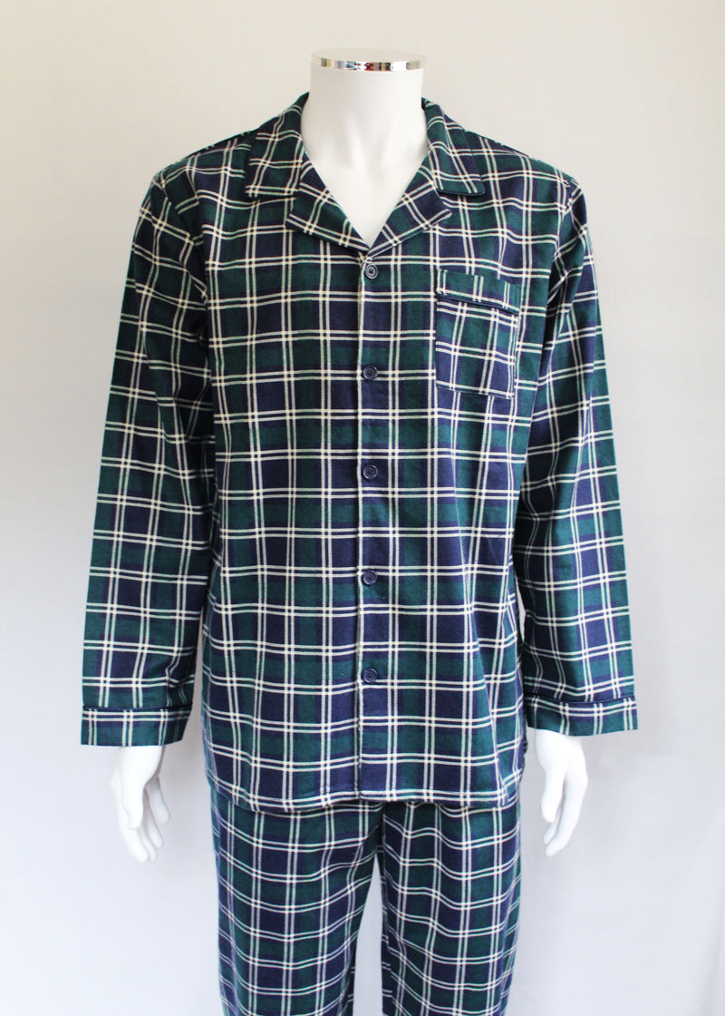 Walker Reid Men's Pure Cotton Flannel Pyjamas