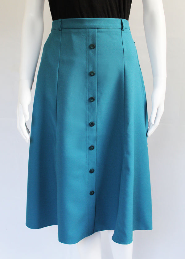 Padstow Skirt with Extra Long Side Zips - Teal, Black or Navy