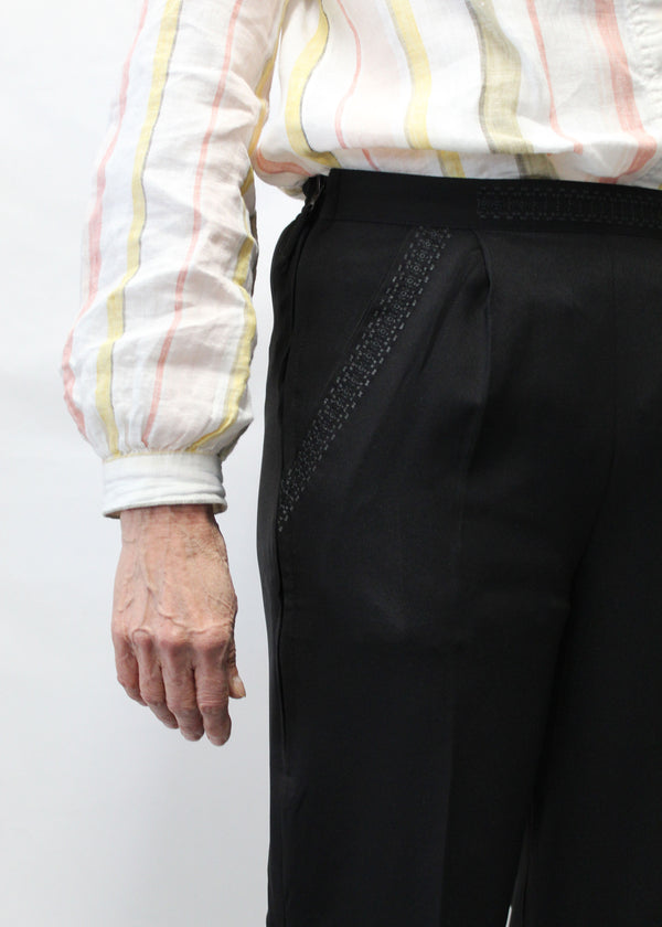 Ladies Trousers with side zip opening