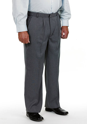 Men's Elasticated Waist Trouble-Free Trousers Vat Relief