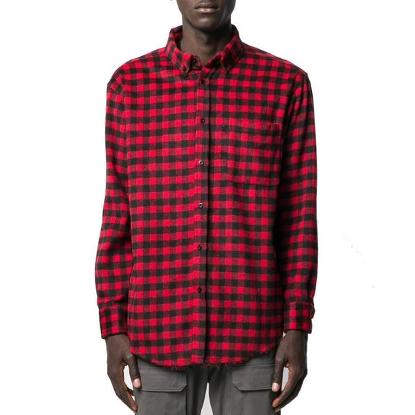 cotton checked shirt jacket not guilty homme