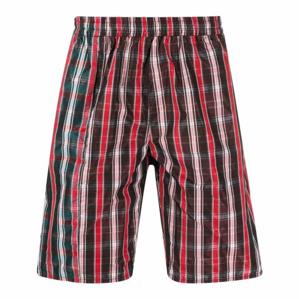 Checked short pants - Hommeplus