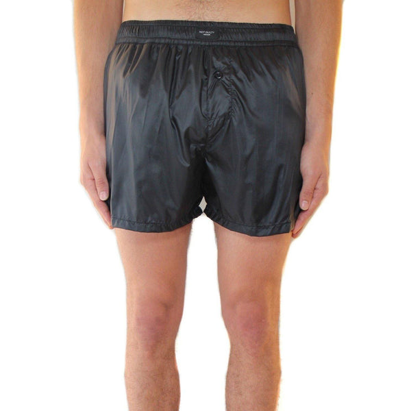 Black nylon swim short not guilty homme