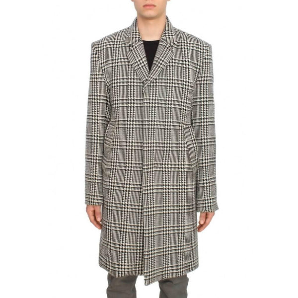 wool Houndstooth coat not guilty homme