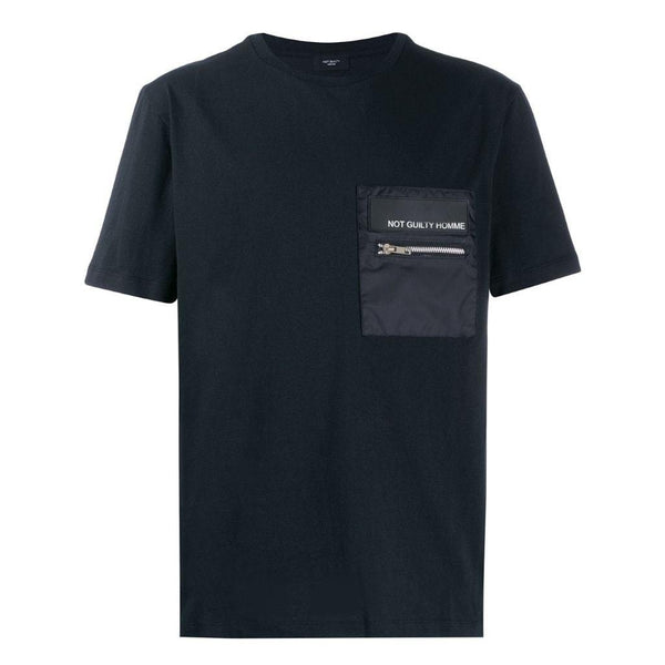 Zipper pocket T-shirt Not guilty homme