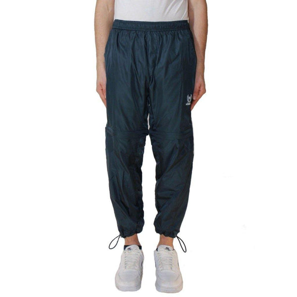 Blue nylon track pants not guilty homme