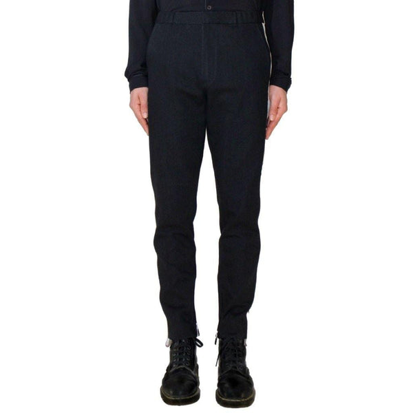 Black tuxedo denim trousers Not guilty homme