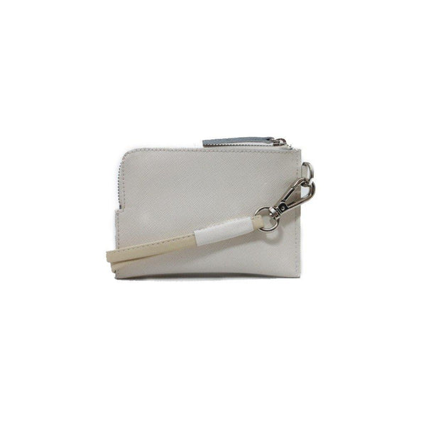 R17 white leather wallet