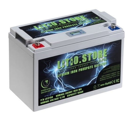 Batterie LiFePO4 12V 150Ah Lithium Fer Phosphate +BMS +10A charger
